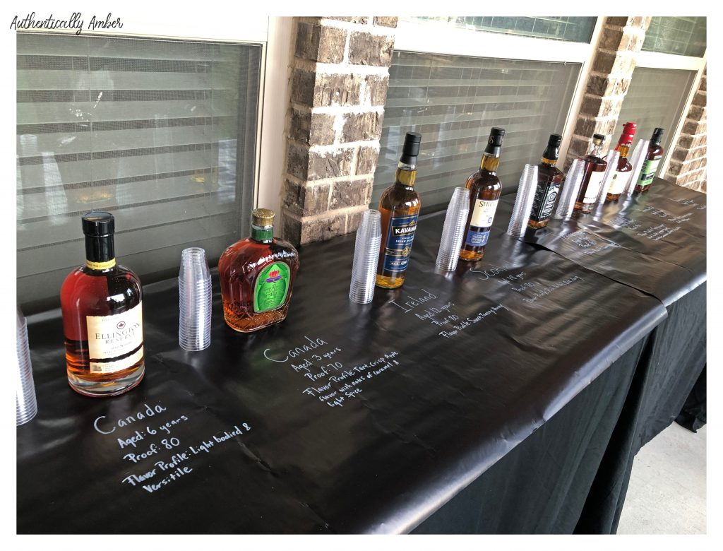 authentically amber diy husband bourbon cigar themed birthday party drinks