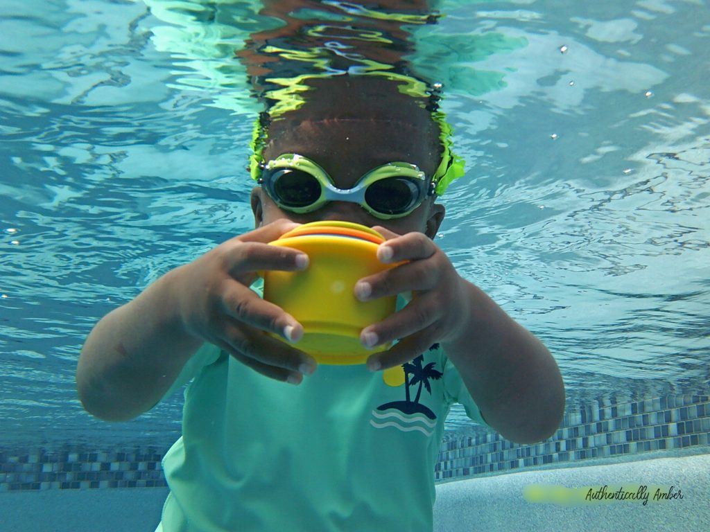 authentically amber frogglez swim goggles for the pool